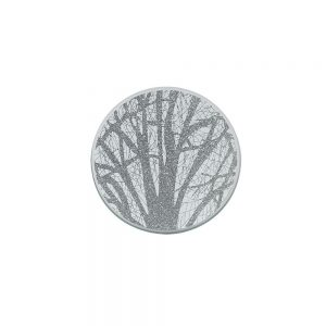 Silver Woodland Candle Plate 10cm
