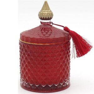 Christmas Red Cinnamon Wax With Lid 15x9cm
