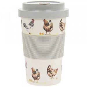Bamboo Travel Mug Chickens