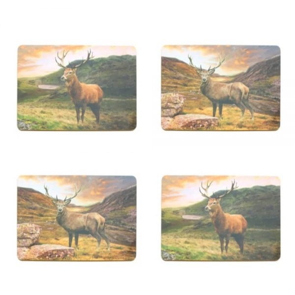 4 Stag Placemats