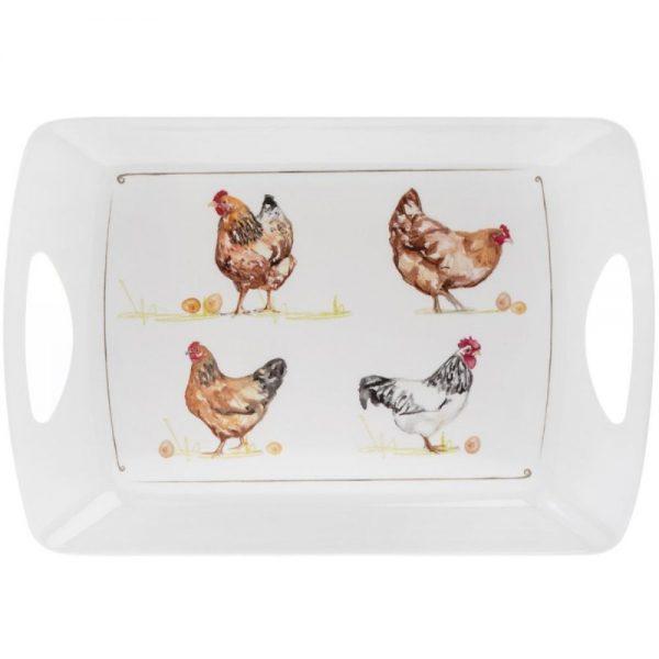 Chickens Large Melamine Tray 48x33x5cm