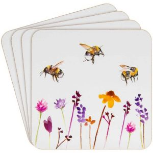 Busy Bee Set of 4 Coasters