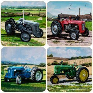 Tractors Coasters Set of 4 11x11cm