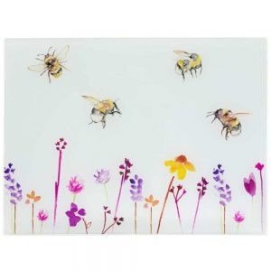 Busy Bees Glass Cutting Board Large 40x30cm