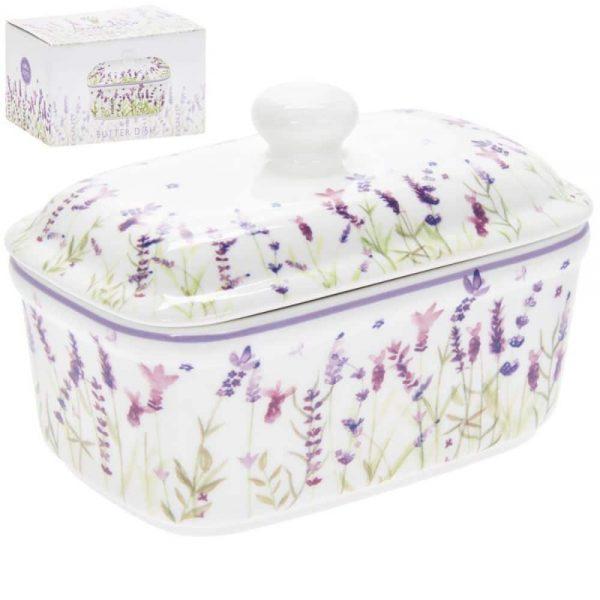 Lavender Butter Dish