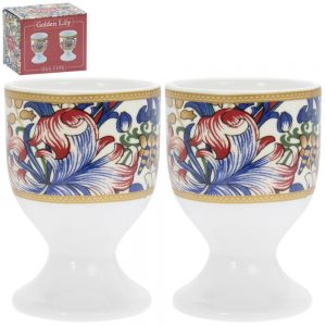 Golden Lily Set of 2 Egg Cups