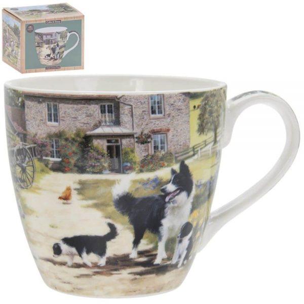 Collie and Sheep Breakfast Mug