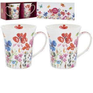 Butterfly Meadow Mugs Set of 2