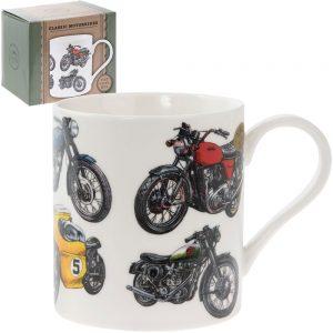 Classic Motorbike Fine China Mug