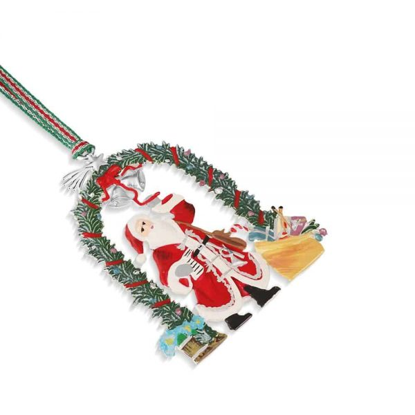 Santa with Garland Decoration