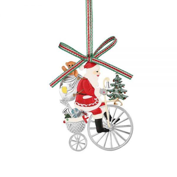 Santa on Penny Farthing Bicycle