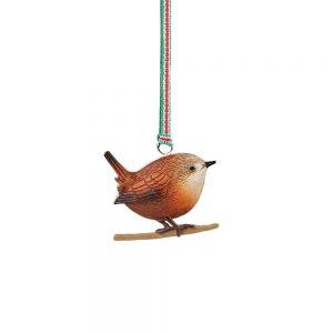 Newbridge Christmas Wren Hanging Decoration