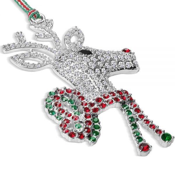 Newbridge Reindeer with Bow Hanging Decoration