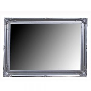 Ornate Swept Silver Mirror 72x102cm