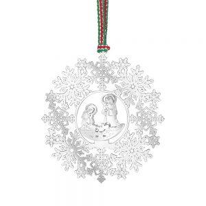 Snowflake with Nativity Decor