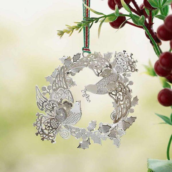 Newbridge Birds in Wreath Hanging Decoration