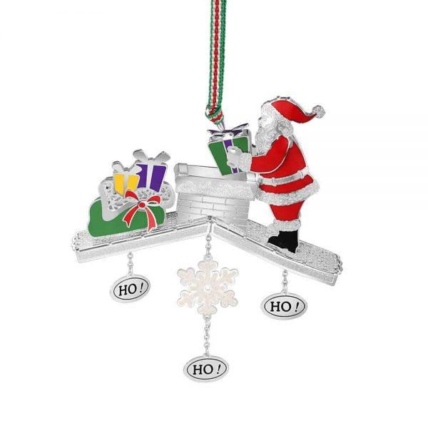 Santa on Chimney Decoration
