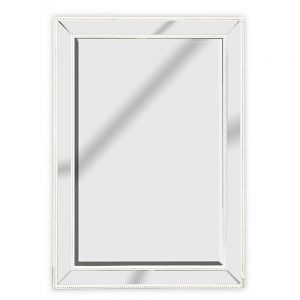 Antique White Mirror Mirrored Frame