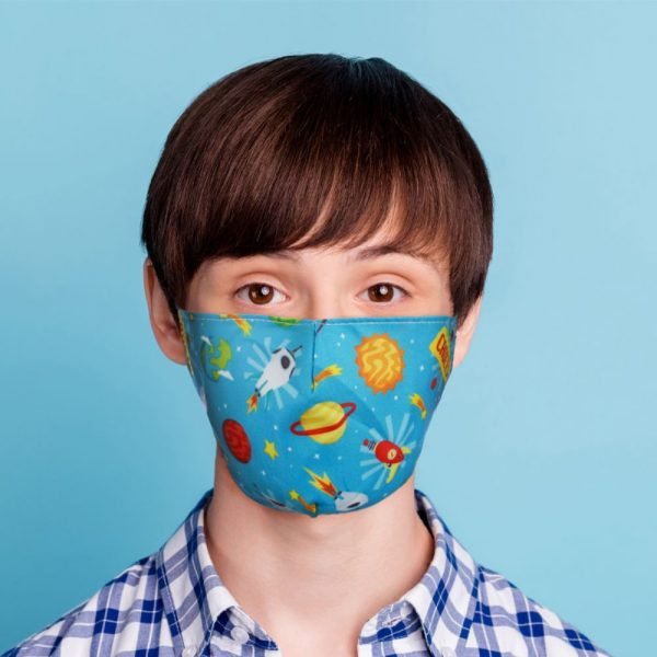 Space Cadet Reusable Face Covering Small