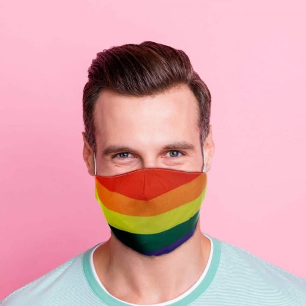 Rainbow Reusable Face Covering Large