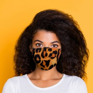Animal Print Reusable Face Covering Large