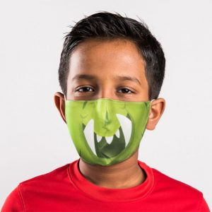 Monstars Green Reusable Face Mask Small