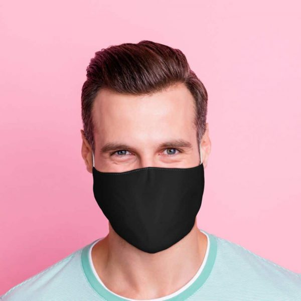 Black Reusable Face Covering Large