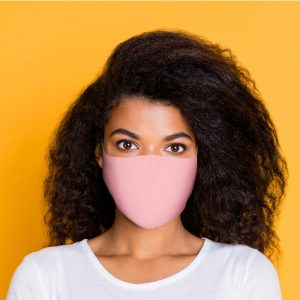 Pink Reusable Face Covering Large