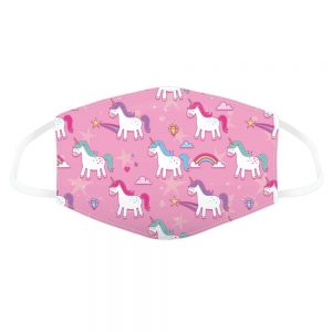 Pink Unicorn Reusable Face Covering Small