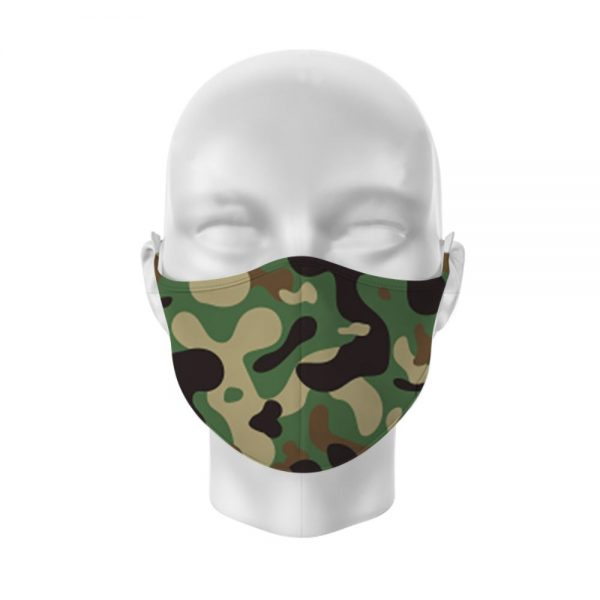 Camouflage Reusable Face Covering Large