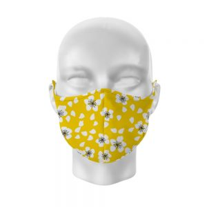 Yellow Floral Reusable Face Covering Large