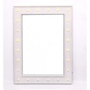 White LED Mirror Battery Operated 80x60x4cm