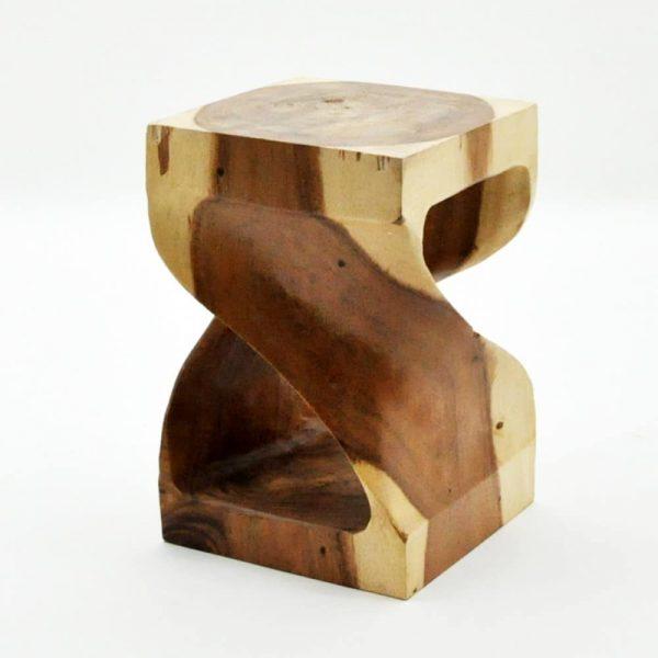 45cm Square Teak Root Sculptured Table