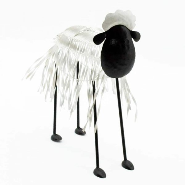 49cm Painted Metal Sheep