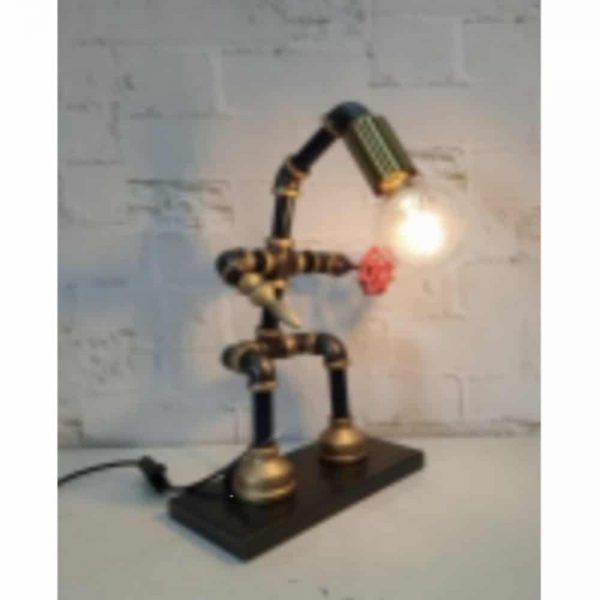 41cm Standing Metal Man Table Lamp
