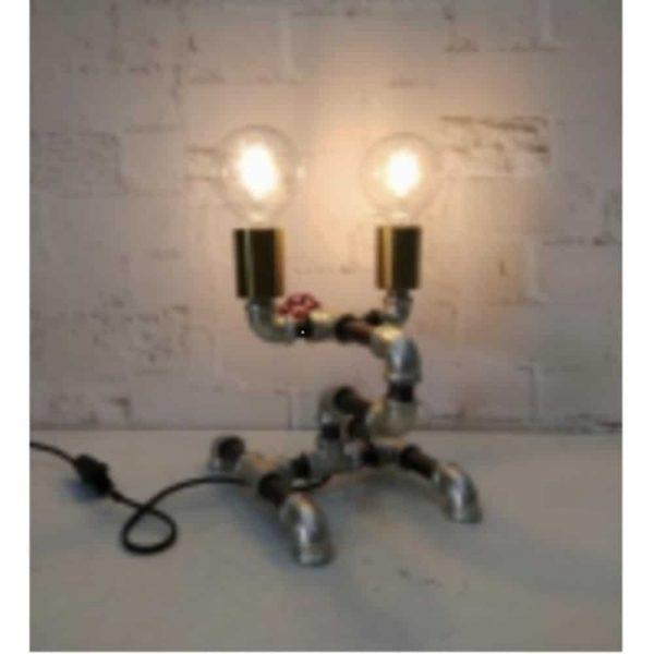 26cm Twin Light Metal Table Lamp