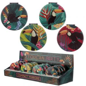 Tropical Toucan Design Compact Mirror