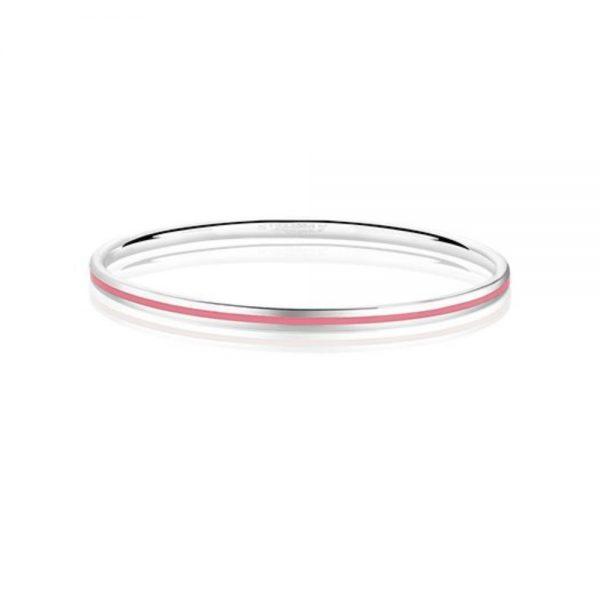 Newbridge Silverplate Enamel Bangle Pink