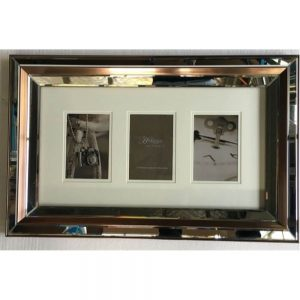 Mirrored Collage 3 Mount Venetian Gold Frame
