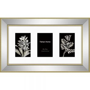 Mirrored 3 Mount Collage Photo Frame