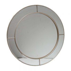 Round Champagne Mirror 76x76cm