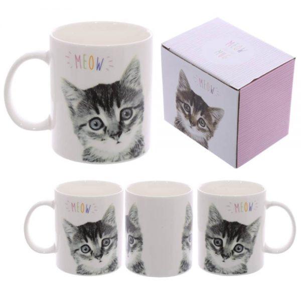 MEOW Cute Kitten New Bone China Mug