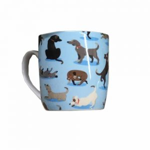Catch Patch Dog Design Porcelain Mug