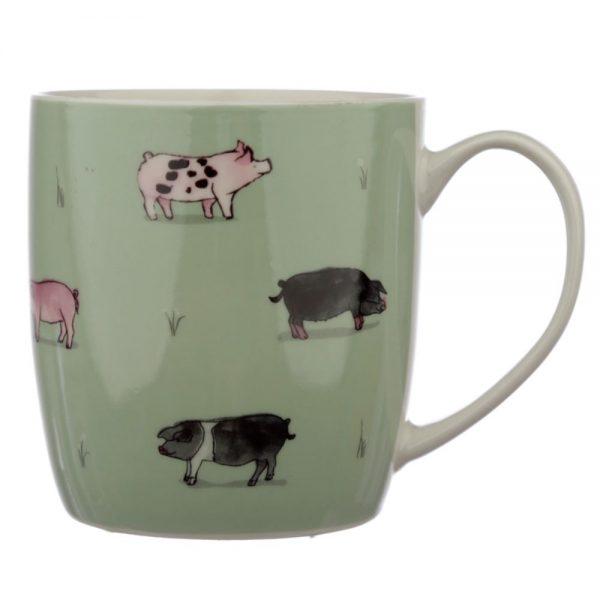 Willow Farm Pigs Porcelain Mug