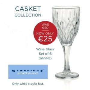 Newbridge 6 Wine Glass Traditional Cut