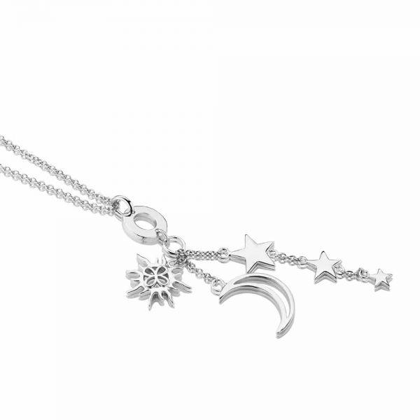Sun Moon & Stars Charm Necklace