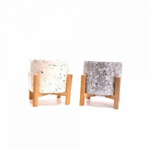8x10cm Terrazzo Candle With Stand
