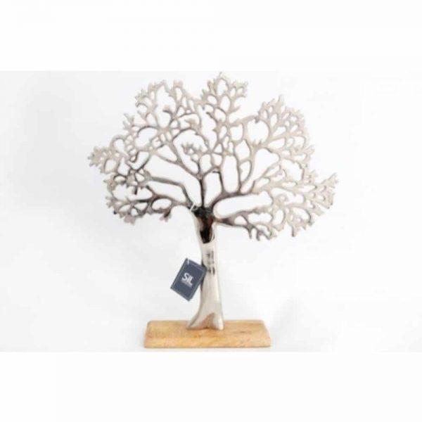 38.5x42cm Tree On Wood Base