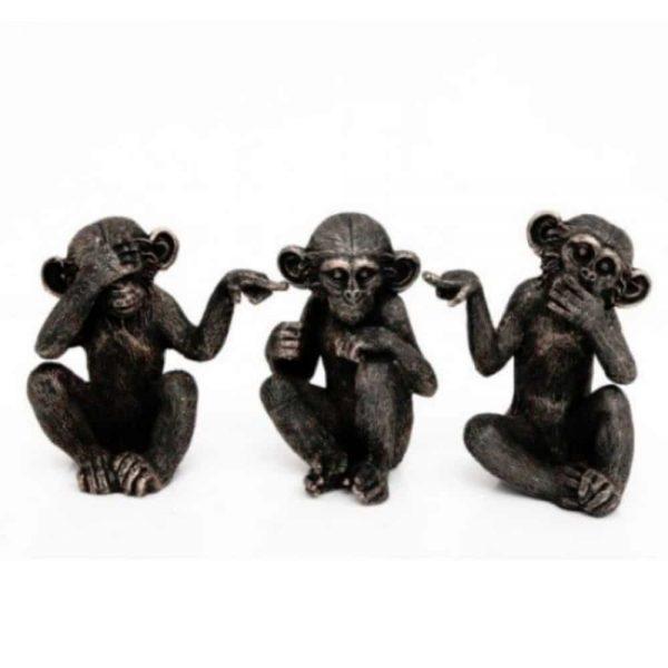 16x30cm Set of 3 Monkeys