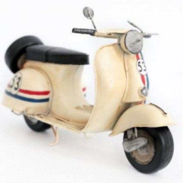 Cream Scooter Ornament H16cm L280cm